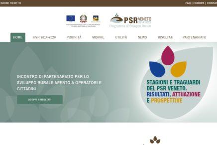 Un sito per il Psr della Regione Veneto