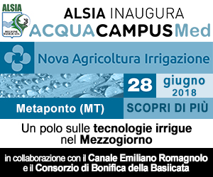 """ALSIA inaugura """"Acqua Campus Med"""" a Nova Agricoltura Irrigazione"""